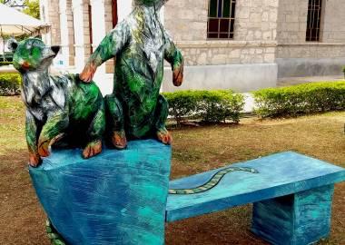 Claire-Alexie Turcot Eucalyptus,acrylique, 2018, symposium Santa Ana, Costa Rica-Claire-Alexie Turcot
