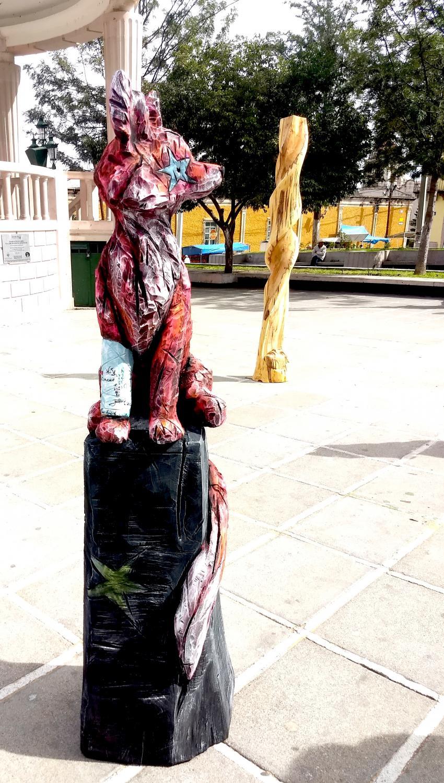 Tilleul,acrylique, 175 cm x 50 cm x 45 cm, Symposium international de Mexticacan 2017, Mexico-Claire-Alexie Turcot