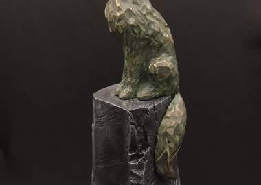 Claire-Alexie Turcot Bronze et hydrostone 2020 31 cm x 9 cm 8,5 cm)-