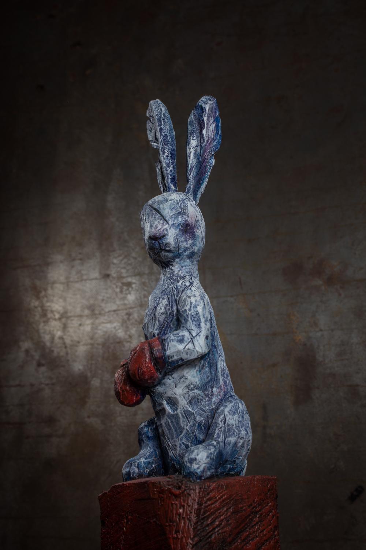 "Collection ""Les Entaillés"", Tilleul, acrylique, 2016-Photo: Yohan Trépanier"