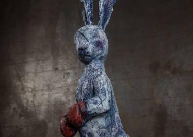 """Claire-Alexie Turcot Collection """"Les Entaillés"""", Tilleul, acrylique, 2016-Photo: Yohan Trépanier"""