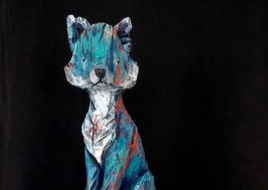 Claire-Alexie Turcot Collection ''Les-Entaillés'', Tilleul, acrylique, 51 cm x 13.5 cmx 13.5 cm, 2016-Photo: Claire-Alexie Turcot
