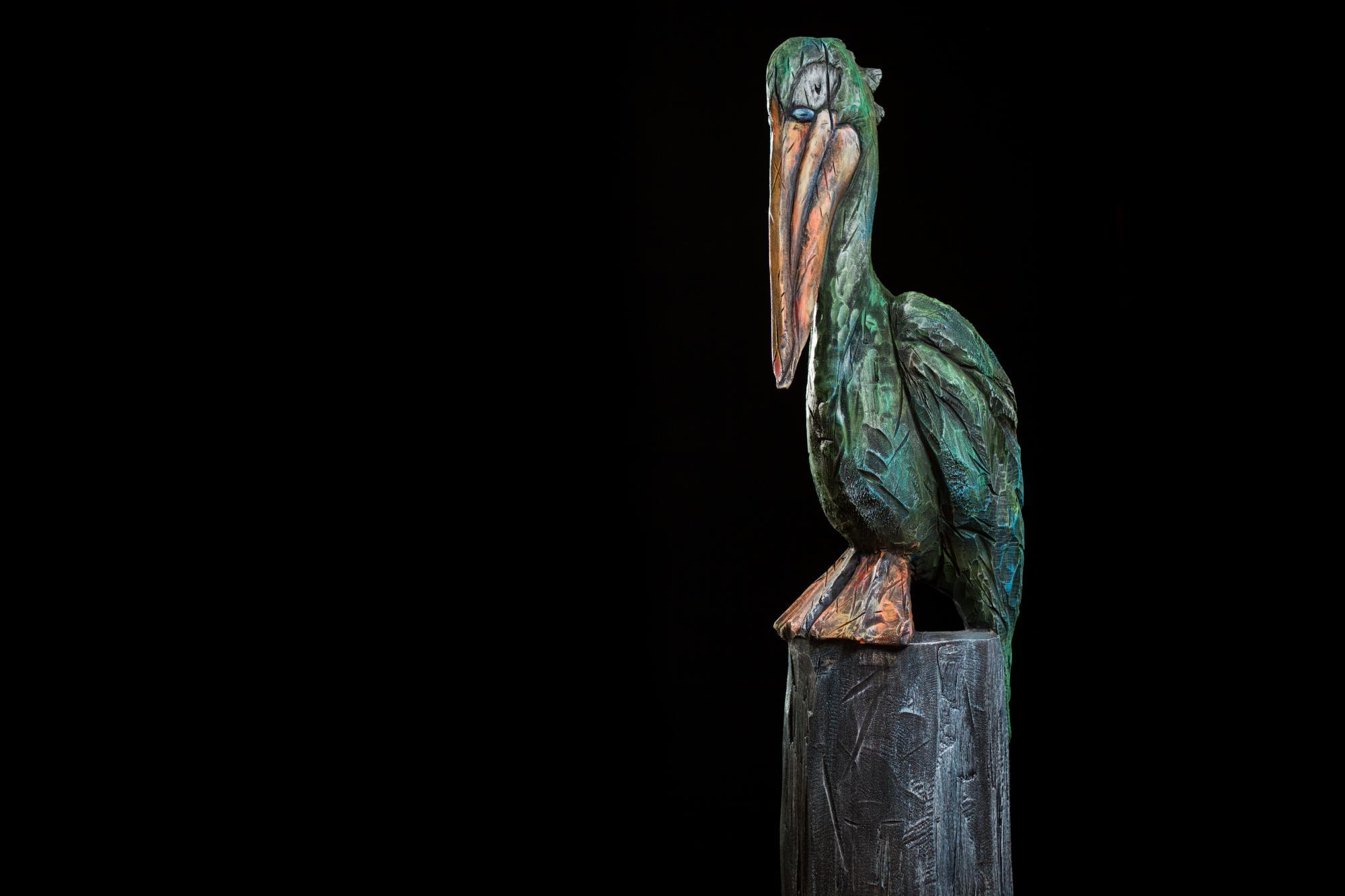 Collection ''Les-Entailles'', Tilleul, acrylique,  2015-Photo: Benoît Lemay
