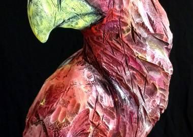 Claire-Alexie Turcot Collection ''Les Entaillés'', Tilleul, acrylique, 68 cm x 21 cm x 18 cm, 2017-Photo: Claire-Alexie Turcot