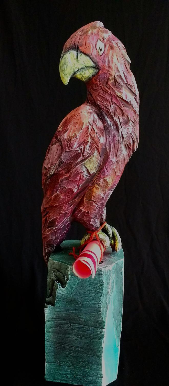 Collection ''Les Entaillés'', Tilleul, acrylique, 75 cm x 21 cm x 18 cm, 2017-Photo: Claire-Alexie Turcot