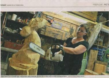 Claire-Alexie Turcot Article de presse sur Claire-Alexie Turcot, sculpteure-